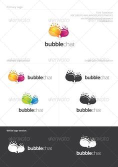 d55b36768 Bubble Chat for  33 - Envato  logo  GraphicRiver  LogoDesign   LogoInspirations  BestDesignResources