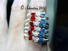 Just in time for the 4th of July, this is your chance to win a custom made Red, White & Blue ring valued at $15.00.  Genuine Swarovski crystals come together with sterling fill wire for a sturdy, comfortable ring you can wear every day. Simply re-pin to one of your boards to be entered in the give away! Good luck everyone :)  You can find this item for sale in my ArtFire shop at:  http://www.artfire.com/ext/shop/product_view/4806220