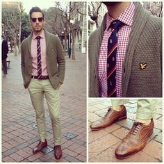 All preppy on a warm winters day.   Tie from @markham_sa  Shoes from @ted_baker…