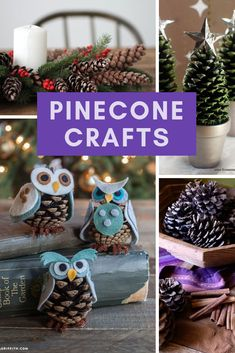 Easy Pinecone Crafts for Christmas {Decor projects you can DIY this weekend!} > > > Easy Pinecone Crafts for Christmas {Decor projects you can DIY this weekend!}Easy Pinecone Crafts for Christmas {Decor projects you Pinecone Crafts Kids, Pine Cone Crafts, Fall Crafts For Kids, Spring Crafts, Sharpie Crafts, Cork Crafts, Felt Crafts, Paper Crafts, Pine Cone Christmas Tree