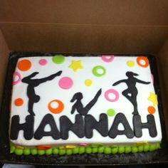 Birthday cake gymnastics
