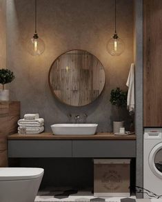 One Of The Most Overlooked Options For Contemporary Bathroom Leafy Wallpaper 105 – walmartbytes - small bathroom Contemporary Bathroom Designs, Bathroom Design Small, Bathroom Interior Design, Modern Bathroom, Master Bathroom, Colorful Bathroom, Washroom, Bathroom Floor Plans, Bathroom Flooring