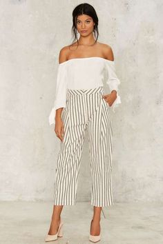 Stripe Dream Cropped Pants