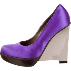 Marni Satin Round-Toe Wedges free shipping purchase MDgWPX2QXR