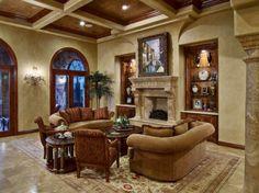 Tuscan Bathroom Designs | Tuscany Living Room Design Tuscany Living Room with Earthy Colors