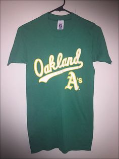 Vintage 80's MLB Oakland Athletics A's Logo 7 Shirt - Size Small by JourneymanVintage on Etsy