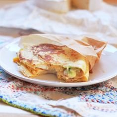 Breakfast Crepes - eggs, avocado, turkey, & cheese
