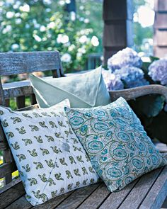 Napkin-like pillows-- Martha Stewart