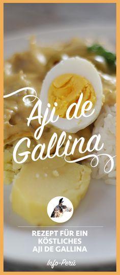 Koche peruanisch! Ají de Gallina ist ein Klassiker der peruanischen Küche. Diese würzig-cremige Hühnchenspeise ist auch außerhalb von Peru leicht zuzubereiten. Wenn du in Peru bist, steht Ají de Gallina garantiert auf jeder Speisekarte! Buen Provecho! @info_peru