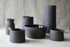 Black pottery by Jono Smart
