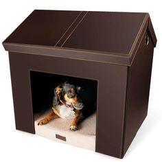 The Foldaway Dog House - Hammacher Schlemmer