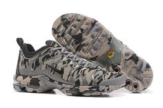 brand new 4be14 a2aa2 Fashion Nike Air Max Plus Tn Ultra Light GreyBlack Camouflage MensWomens  Running Shoes Sneakers 898015 024