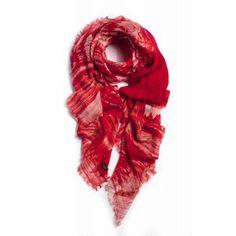 fular pashimna Richiami de modal y seda rojo www.sanci.es