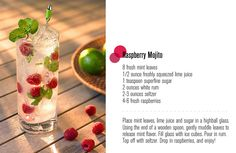 raspberry mojito! I think this is what I had at the Grove Park Inn