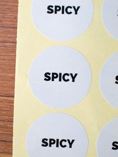 Spicy sticker white glossy paper black ink by ctdscraftsupply Food Stickers, Spicy, Ink, Paper, Handmade Gifts, Etsy, Black, Kid Craft Gifts, Black People