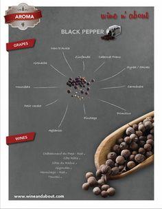 Aromas of wine: Black Pepper Wine Paring, Wine Chart, Chateauneuf Du Pape, Wine Varietals, Wine News, Wine Vineyards, Wine Guide, Vitis Vinifera, Wine Cheese