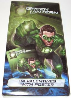 "Green Lantern 34 Valentines with Poster by Paper Magic Group. $7.99. 15"" x 19"" Poster. 34 Green Lantern Valentines Day cards. Join the corp!  7 out of this world designs!  Includes a 15"" x 19"" poster."