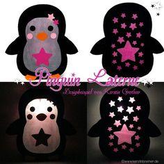 Pinguin Laterne für den Schneideplotter ♥ von kerstinbremer.de. So cute! Penguin lantern ♥ #cutfile #svg #diy