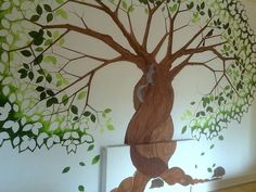 Indoor Wall Mural: Tree of Life (work in process) 2015. North London Women's Hostel.