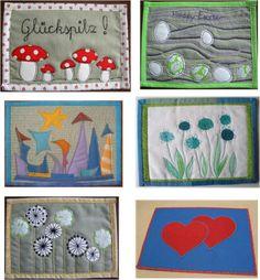 Link to free Patterns - mug rugs, blocks ect.