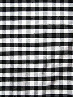 "100% silk dupioni plaid fabric. 1"" repeat. Squares are 1/2"". 45"" wide. Item#84555 $12.95/yard"
