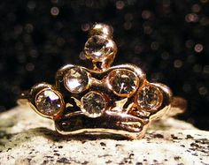 Czech Rhinestones Gold P fashion Ring.  The sparkle will amaze you!  Size 5