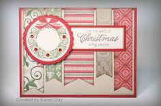 Karen's Creations: Merry Monday Guest Designer! #PearAndPartridge #C1510MerryAndBright