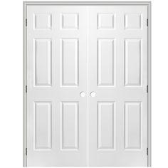 ReliaBilt Prehung Hollow Core 6 Panel Interior Door (Common: 30 In X