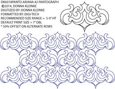 Ariana #2 Pantograph by Donna Kleinke / One Song Needle Arts DK6018PANTOPR