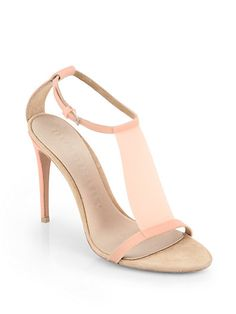 A girl can dream! Burberry Prorsum - Taylor Suede T-Strap Sandals - Saks.com