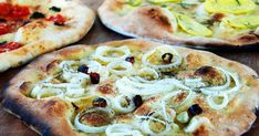Pizza with Variations: Potato, Onion and Chile, Sausage and Scamorza, Tomato : Recipes : Cooking Channel Recipe Cooking Channel Recipes, Italian Street Food, Potato Onion, Sausage Potatoes, Pizza Dough, Other Recipes, Food Dishes, Wine Recipes, Vegetable Pizza