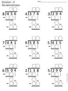 Long Division Worksheets Differentiated FREE by Caffeine Queen Teacher Teaching Long Division, Long Division Worksheets, 4th Grade Math Worksheets, Third Grade Math, Math Resources, Multiplication Practice, Math For Kids, Integers, Graph Paper