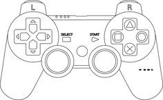 Xbox Controller Coloring Page - Printable Editable Blank ...