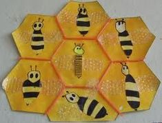 bees and hexagons Animal Crafts For Kids, Animal Projects, Animals For Kids, Art For Kids, Bug Activities, Preschool Themes, Fairy Tale Theme, Bug Crafts, Bee Party