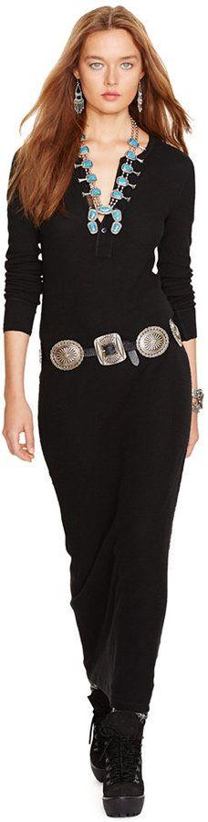 Polo Ralph Lauren Long-Sleeve Maxi Dress