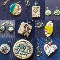 Ceramic Jewelry, Ceramics, Accessories, Handmade Jewelry, Gemstone Earrings, Chains, Earrings, Handarbeit, Joy