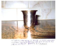 Antique Kiddush Cup;  I love our Kiddush cup ;)