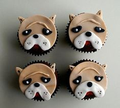 Bulldog Cupcakes!   # Pin++ for Pinterest #