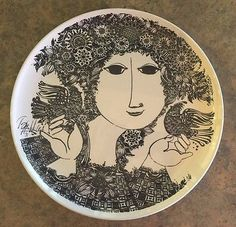 Rare Nymolle Fajance Adam Amp Eve Plate By Jacob Bang Adam