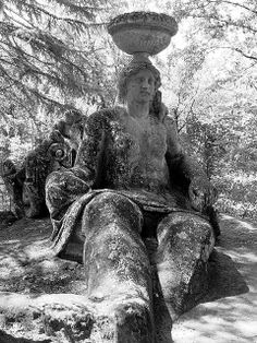 Ceres Roman godness, Park of Monsters in Bomarzo, Lazio Roman Gods, Monsters, Greek, Statue, Park, Artist, Painting, Artists, Painting Art