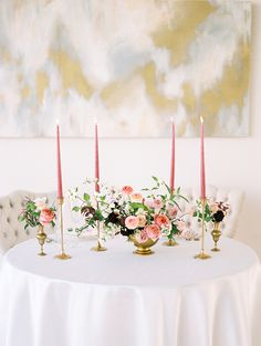 pink and gold wedding ideas - photo by Live View Studios http://ruffledblog.com/delicate-modern-wedding-inspiration