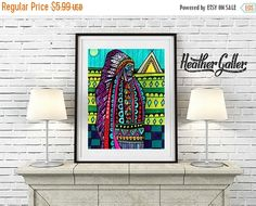 50% Off Today- DIGITAL Print File - Today- American Indian Chief art Print Heather Galler (HG125)