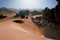 Sunset in Awis, Akakus, Libya  by Jonathan Gregson