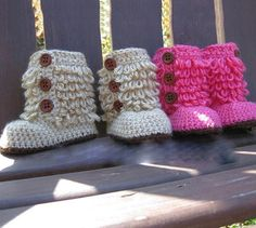 Sweet Baby Crochet Boots   andRuby
