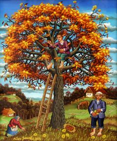 Ivan Generalic / Autumn / Croatian Naive Art