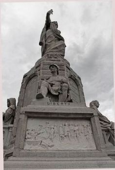 Liberty, Forefathers monument, Plymouth, Ma
