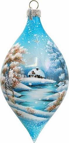 "G. Debrekht Winterl& Glass Ornament Drop, 5.5"" G. Debrekht http://www.amazon.com/dp/B00A2F252Y/ref=cm_sw_r_pi_dp_ZVf6vb0VEKTXM"