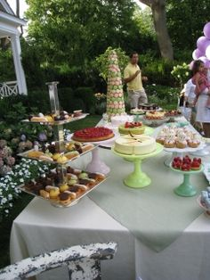 marie antoinette party theme: dessert buffet  — Linda Kaye's Partymakers