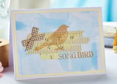 Bird washi tape card