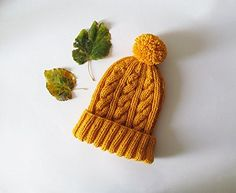 Cable Knit Hat in Yellow, Hand Knit Beanie with Folded Br... https://www.amazon.com/dp/B01M4MCDOE/ref=cm_sw_r_pi_dp_x_bHHeAbGM47S23